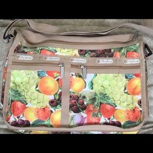 Lesportsac harvest fruits cross-body bag